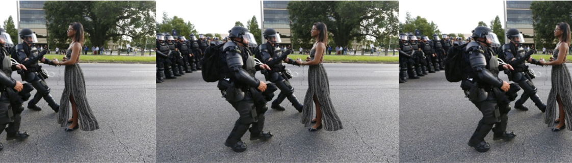 EVERYONE IS TALKING ABOUT THIS PHOTO FROM THE PROTESTS IN BATON ROUGE.